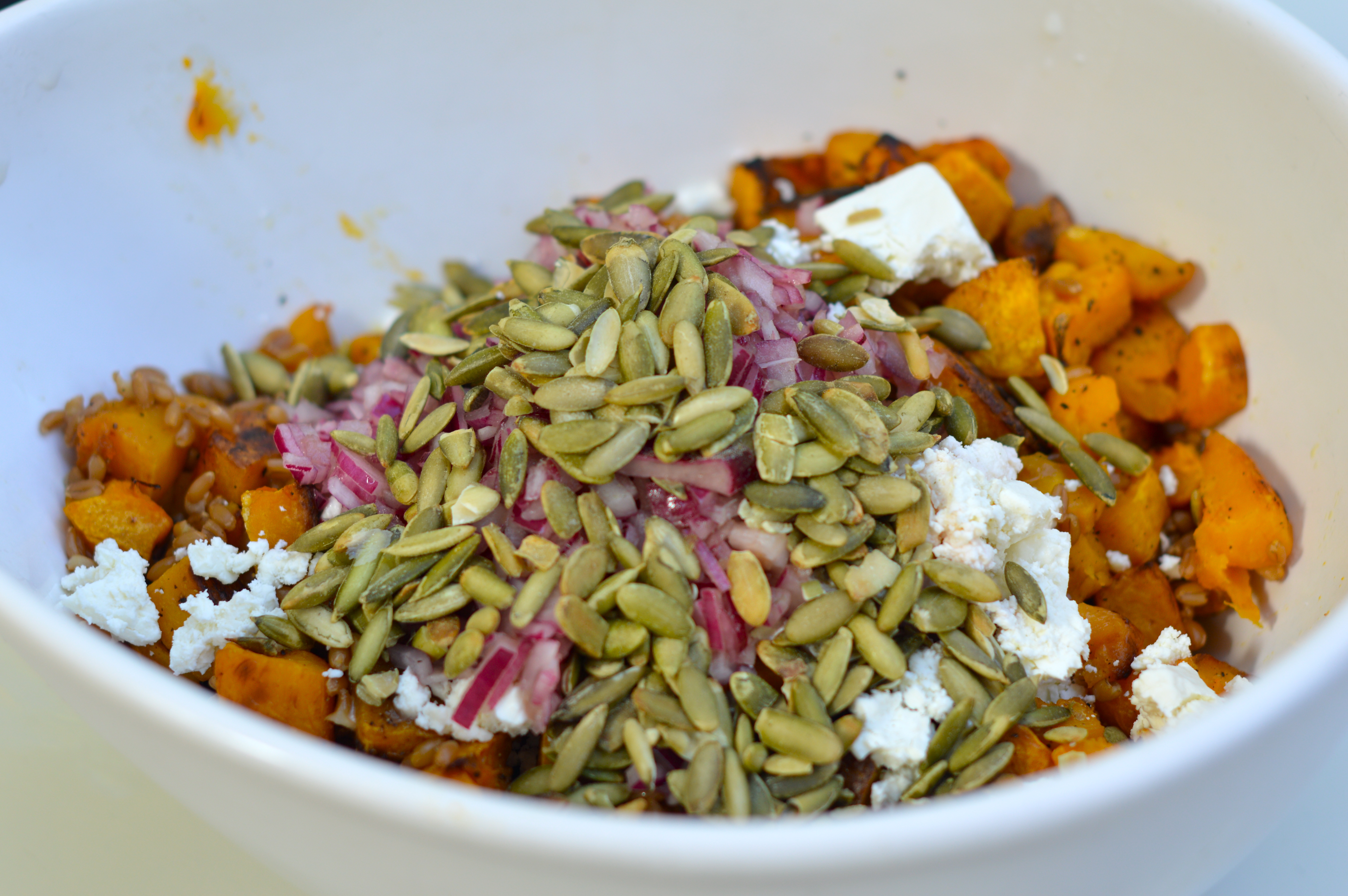 Butternut Squash Salad with Farro and Pepitas – Poole Party of 5
